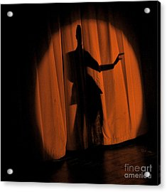 Acrylic Print featuring the photograph Silhouette Of A Singer ... by Chuck Caramella
