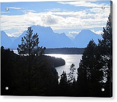 Silhouette Peaks Acrylic Print by Mike Podhorzer