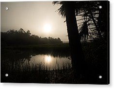 Silhouette  Sunrise Acrylic Print by Margaret Palmer