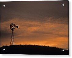 Silhouette Windmill Acrylic Print