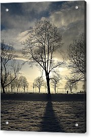 Silhouettes And A Long Winter Shadow  Acrylic Print