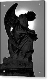Silhoutte Angel Acrylic Print