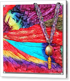 Silk Canvas With Necklace Acrylic Print