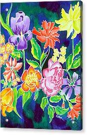 Silk Floral 1 Acrylic Print
