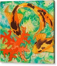 Silk Koi Acrylic Print