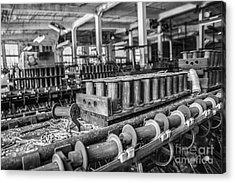 Silk Mill Floor Acrylic Print by Terry Rowe