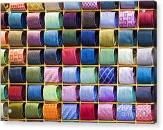 Silk Neckties Acrylic Print by Sheldon Kralstein