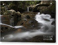 Acrylic Print featuring the photograph Silk Rapids.  by Gary Bridger