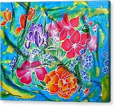 Silk Summer Bouquet Acrylic Print