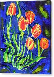 Silk Tulips Acrylic Print