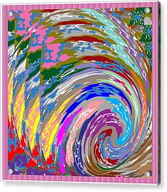 Colorful Fineart Silken Spiral Waves Pattern Decorative Art By Navinjoshi At Fineartamerica.com Acrylic Print
