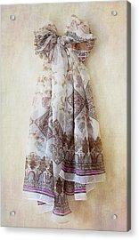 Silky Bow Acrylic Print by Svetlana Sewell