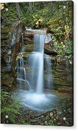 Silky Flow Of Waterfalls, Rainbow Acrylic Print by Roberta Murray