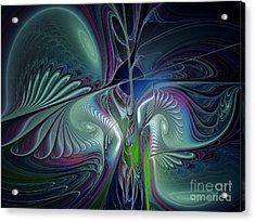 Silky Nights-fractal Design Acrylic Print by Karin Kuhlmann