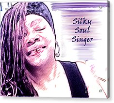 Silky Soul Singer Acrylic Print