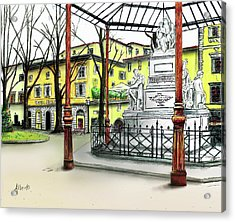 Silla Hotel Piazza Demidoff Florence Acrylic Print by Albert Puskaric