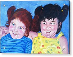 Silly Girls Acrylic Print