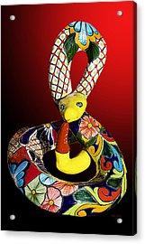 Silly Snake Acrylic Print by Phyllis Denton