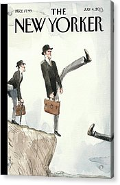 Silly Walk Off A Cliff Acrylic Print by Barry Blitt
