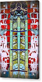 Acrylic Print featuring the photograph Silo Abstract 2 by Karen Newell