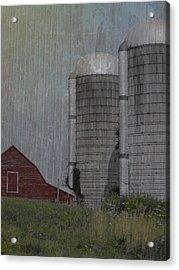 Silo And Barn Acrylic Print by Photographic Arts And Design Studio