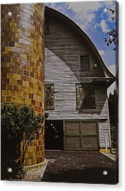 Silo And Horse Stable Acrylic Print by Debra Crank