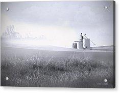 Silo Mist Acrylic Print by Melisa Meyers