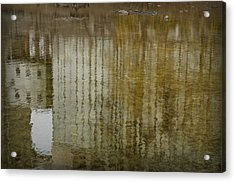 Silo Reflection Acrylic Print by Eric Soucy