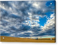 Silo Under Big Palouse Sky Acrylic Print by Chris McKenna