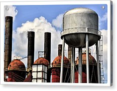 Silos In The Sky Acrylic Print by Davina Washington