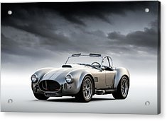 Acrylic Print featuring the digital art Silver Ac Cobra by Douglas Pittman