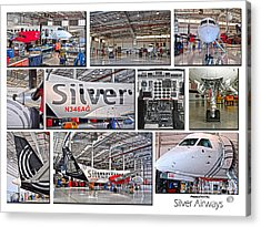 Silver Airways Large Composite Acrylic Print