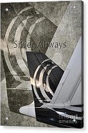 Silver Airways Tail Logo Acrylic Print by Diane E Berry