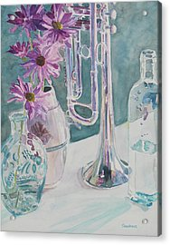 Silver And Glass Music Acrylic Print by Jenny Armitage
