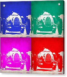 Silver Arrow Pop Art 1 Acrylic Print