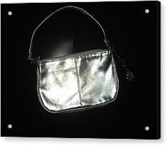 Silver Bag With Rose Locket Acrylic Print by Robert Cunningham