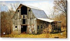 Silver Barn Long Acrylic Print by Marty Koch