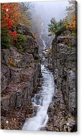 Silver Cascade Crawford Notch Nh Acrylic Print