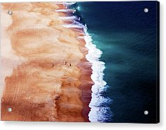 Silver Coast Acrylic Print by Cbomersphotography