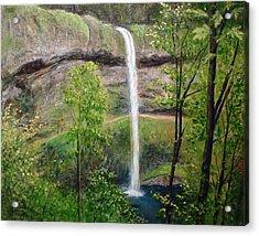 Silver Creek Falls Acrylic Print