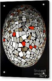 Silver Egg Acrylic Print