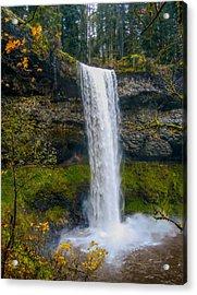 Silver Falls - South Falls Acrylic Print by Dennis Bucklin
