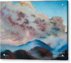 Silver Fire Acrylic Print