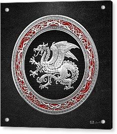 Silver Icelandic Dragon  Acrylic Print