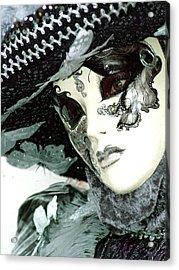 Silver Lacy Eyes Acrylic Print