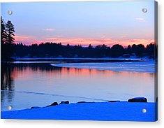 Silver Lake In The Evening Acrylic Print