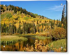 Acrylic Print featuring the photograph Silver Lake by Jeremy Farnsworth