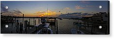 Silver Lake Sunset Panorama Acrylic Print