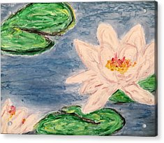 Silver Lillies Acrylic Print
