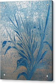 Acrylic Print featuring the painting Silver by Nico Bielow